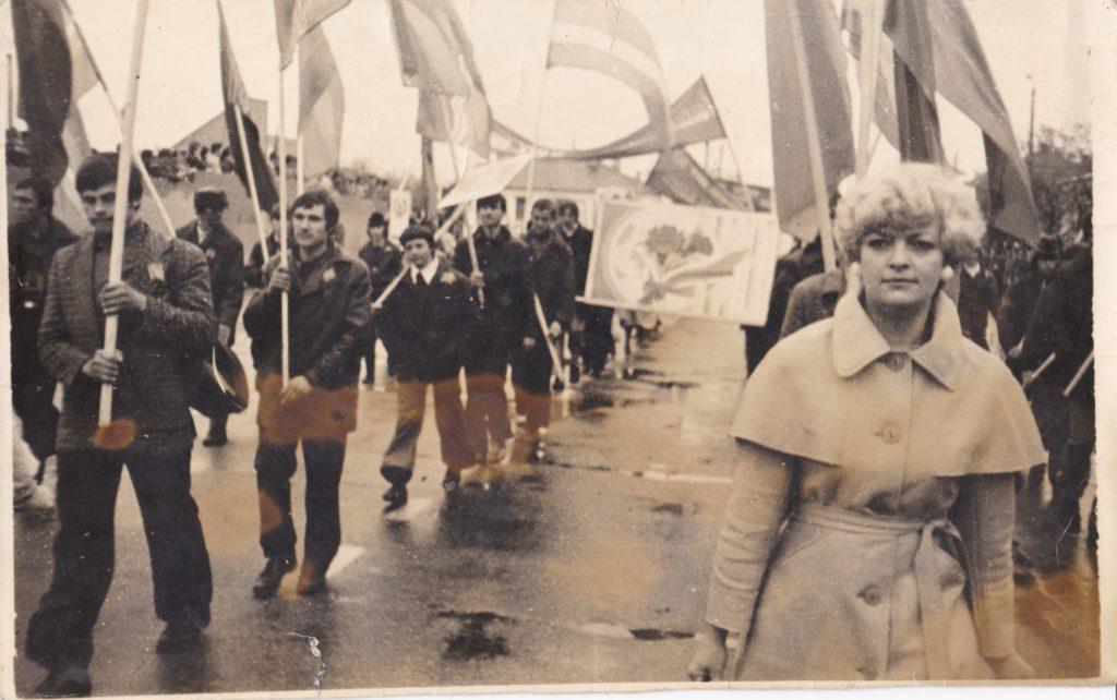 Старобельск. Демонстрация. 70-80-е.