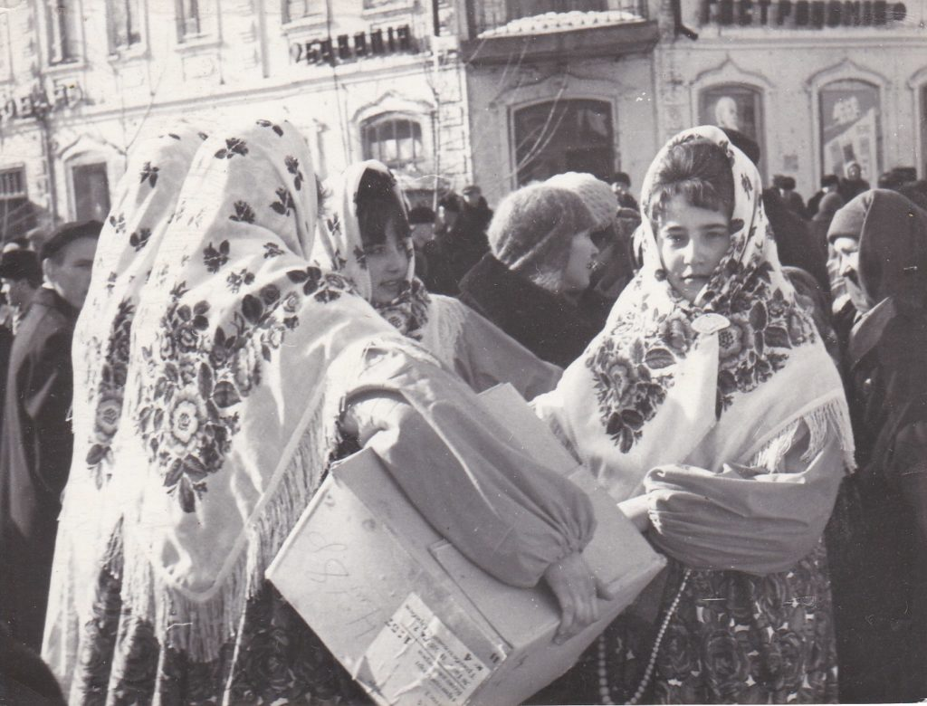 "СТАРОБЕЛЬСК, 1967 год,  ПРАЗДНИК 2РУССКАЯ ЗИМА"", ЦЕНТРАЛЬНАЯ ПЛОЩАДЬ"